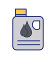 gasoline bottle with drops to car industrial vector image