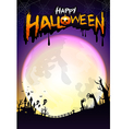 Happy Halloween party calligraphy and design vector image