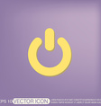 power sign character on and off vector image