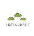 restaurant lamps vector image
