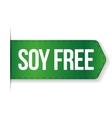 Soy Free sign ribbon vector image