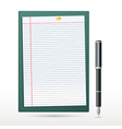 stationery items vector image