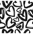 Black and white heart pattern vector image vector image
