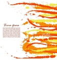Colorful abstract yellow and orange splashes and vector image