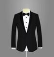 black tuxedo vector image