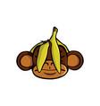 see no evil monkey vector image vector image