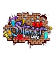 Graffiti word characters composition vector image