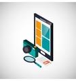 Icon of isometric smartphone design vector image