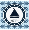 Flat about sailboat design vector image