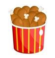 BBQ chicken drumsticks vector image