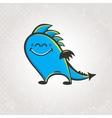 Cute smiling dragon vector image