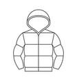 duvet jacket with hood vector image