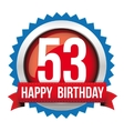 Fifty free years happy birthday badge ribbon vector image