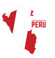 Flag and map of peru vector image
