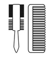 hair comb icon outline style vector image