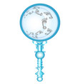 magnifying glass doodle vector image