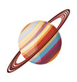 saturn planet space image vector image