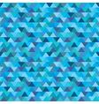 seamless blue zig zag triangle pattern vector image