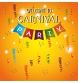 welcome carnival party decorative gralands vector image