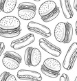 Hot dog pattern vector image