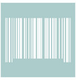 the barcode the white color icon vector image