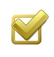 Yellow check box vector image