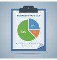 Business statistics clipboard vector image