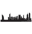 dubai emirates skyline detailed silhouette vector image vector image