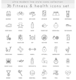 fitness and health ultra modern outline vector image