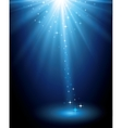 Abstract magic blue light background vector image