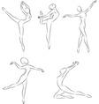 ballerines vector image