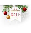 christmas sale paper emblem vector image