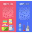 Cleaning icons on banner vector image