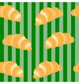 croissants on a striped green background vector image