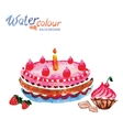 pastries and cakes white background with space for vector image