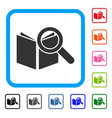 search book framed icon vector image