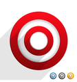 Target with Diagonal Shadows vector image