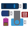 usb connection design eps10 graphic vector image
