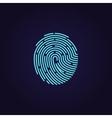 Id app fingerprint icon vector image