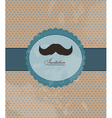 Moustache background invitation vector image