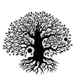 Beautiful vintage hand drawn tree of life vector image