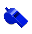 blue whistle vector image vector image