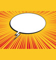 yellow sun on a red background comic bubble vector image