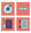 set of car detail icons automotive parts on color vector image vector image