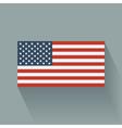 Flat flag of the USA vector image