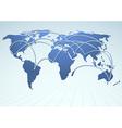 World trade logistics commercial streams vector image vector image