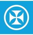 Maltese cross sign icon vector image