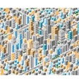 Background of isometric city vector image vector image
