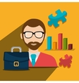 Business people working vector image