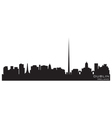 dublin ireland skyline detailed silhouette vector image